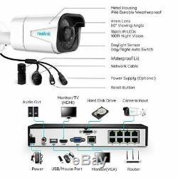 Reolink 4k 8ch 8mp Poe Accueil Surveillance 4 Poe Caméra De Sécurité Nvr Rlk8-800b4 Au