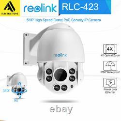 Reolink 5mp Ptz Ip Sécurité Poe Tourelles Caméra Zoom Optique 4x Extérieur Rlc-423