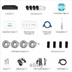 Reolink 8ch 5mp Système De Surveillance Poe Nvr De Sécurité Kit Caméra Ip Rlk8-410b4-5