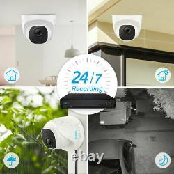 Reolink 8ch Nvr 5mp Surveillance Poe Caméra De Sécurité Système D'enregistrement Hdd 2 To
