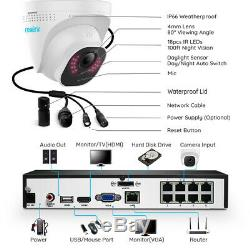 Reolink 8ch Poe 5mp Système De Caméra De Sécurité Kit 2tb Hdd Nvr Vidéo Rlk8-520d4-5mp