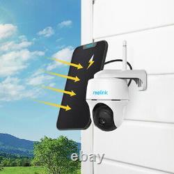 Reolink Extérieur Rechargeable Wifi Caméra De Sécurité Pan Tilt Argus Pt&solar Panneau