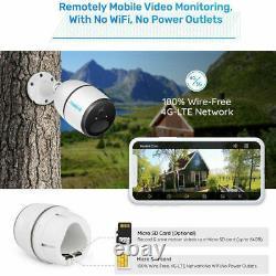 Reolink Go 4g Lte Réseau 1080p Caméra De Sécurité Extérieure Sans Fil Panneau Solaire Opt