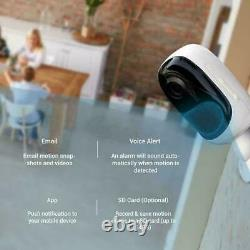 Reolink Wireless Security Camera Rechargeable 2-way-audio Argus 2 + Panneau Solaire