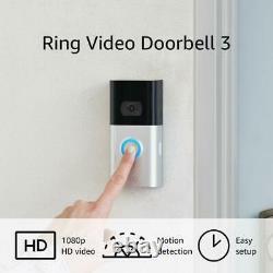 Ring Doorbell 3 1080p Hd Vidéo Wi-fi Home Security Camera 2021 Nouveau Modèle