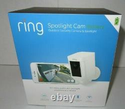 Ring Spotlight Cam Batterie Extérieure Caméra De Sécurité & Spotlight 7g-8sb1s7wen Nouveau