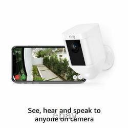 Ring Spotlight Cam Battery Hd Security Avec Two-way Talk & Siren & Alexa White