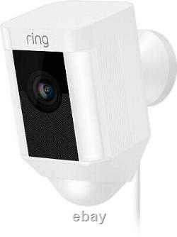 Ring Spotlight Cam Wired Plugged-in Hd Security Avec Two-way Talk & Siren &alexa