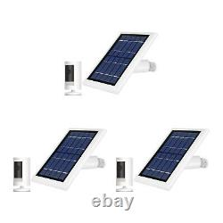Ring Stick Up Cam Batterie Avec Solar Panel Bundle Deal Camera (3 Pack, Blanc)