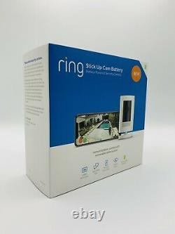 Ring Stick Up Cam Indoor/outdoor Hd Security Camera (blanc, Batterie), 3ème Génération
