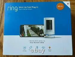 Ring Stick Up Cam Plug-in Hd 1080p Caméra De Sécurité -indoor/outdoor 3rd Gen White