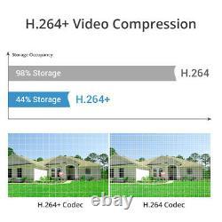 Sannce 4ch Dvr 1080p Vidéo Maison Caméra De Sécurité Système Extérieur Cctv H. 264+ Onvif