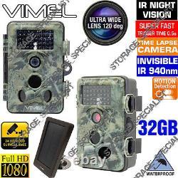Sans Fil Caméra De Sécurité Système De Batterie Solaire 1080 Trail Farm