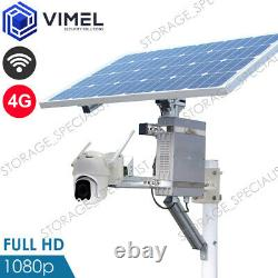 Security Solar Charged Ptz Camera Avec 4g Wifi Network Ir Night Vision