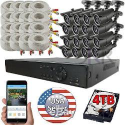Sikker 16 Ch Channel Dvr 1080p Home Security Camera System Avec Disque Dur De 4 To