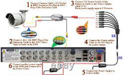 Sikker 16 Ch Channel Dvr Caméra De Sécurité À Domicile 1080p Système Avec 4 To Disque Dur