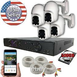 Sikker 4 Ch Canal Dvr 1080p Pan Tilt Système De Surveillance Caméra Ptz