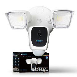 Smart Floodlight 1080p Caméra Hd Pir Motion-activated Two-way Talk - Alarme Sirène