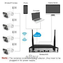 Smartsf 8ch Sans Fil 1080p Nvr Extérieur Accueil Wifi Caméra Cctv Kit Système De Sécurité