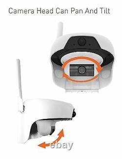 Solar Powered Wireless Outdoor Wifi Surveillance Surveillance Caméra De Sécurité Vision Nocturne
