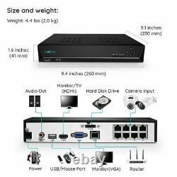 Système De Caméra De Sécurité 4mp Surveillance À Domicile 8ch Nvr Kit Avec 2 To Hdd Rlk8-410b2d2