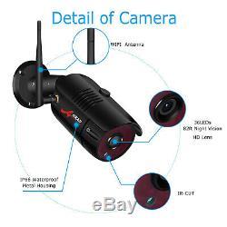 Système De Caméra De Sécurité Sans Fil Audio 1080p 8ch Extérieur 1tb Disque Dur Cctv