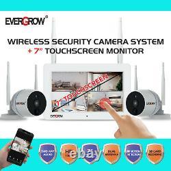 Système De Caméra De Sécurité Sans Fil De 2 Voies Audio 1080p Avec Vision Nocturne D'écran De 7''