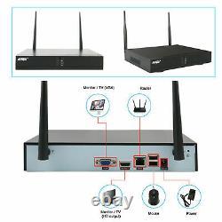 Système De Caméra De Sécurité Wireless Home 960p Hd 4ch Wifi Nvr Caméras Extérieures Cctv