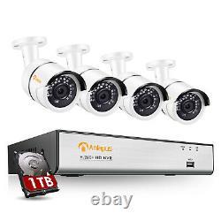 Système De Caméra Ip De Sécurité Poe 8ch 1080p 1tb 2mp Hd Surveillance 5mp Nvr Kit
