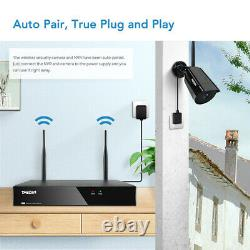 Tmezon 8ch Sans Fil 1080p Nvr Extérieure Caméra Intérieure Wifi Cctv Système De Sécurité