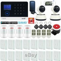 U70 App Wifi Gsm Rfid Sans Fil Accueil Système D'alarme Anti-intrusion Sécurité + 2 Caméra Ip Hd