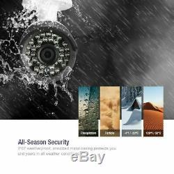 Vidéo Hd 1080p 8ch Dvr 1080p Système Home Caméra De Sécurité Ir H. 264+ Cctv 2to