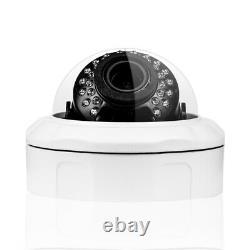 Videoüberwachung Set 5 Mp Poe Ip 4x + 5x Dôme Kameras Zoom + Audio +2000 Go Hdd