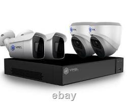 Vimel Poe System 2tb Nvr Security Camera 24/7 Home Live Monitoring 5mp Uhd 2k