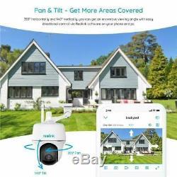 Wifi Caméra De Sécurité 1080p Batterie Pan Tilt Extérieur Pir Argus Pt + Panneau Solaire