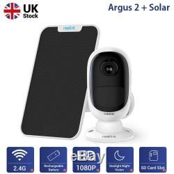 Wifi Sans Fil Caméra De Sécurité 1080p Batterie Rechargeable Argus 2 + Panneau Solaire