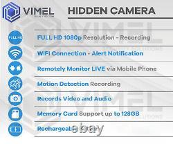 Wireless Evidence 128 Go Wifi Proof Hidden Voiture Clé De Sécurité Spy Caméra