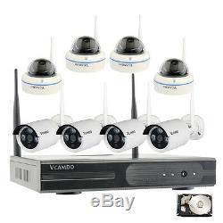 Wireless Home Security Surveillance 8 Caméras Avec Système 1tb Hdd Disque Dur Us