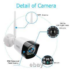 Zoohi 1080p Sans Fil Système De Caméra De Sécurité Extérieure Vision Nocturne 8ch Wifi Nvr