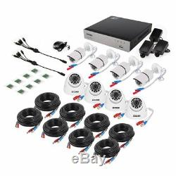 Zosi 1080p 8ch 4in1 Dvr Avec 8 2mp Extérieur Cctv Ir-cut Accueil Sécurité Système De Caméra