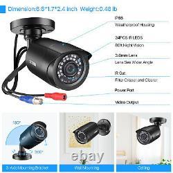 Zosi 16ch H. 265+ Hdmi Dvr 1080p Système Extérieur De Caméra De Surveillance À Domicile
