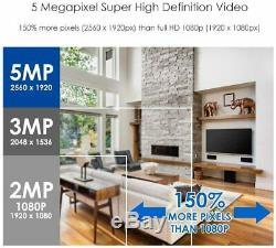 Zosi 5mp Cctv Super Hdmi Dvr Extreme Home Caméra De Sécurité Extérieure Système 1to Hdd