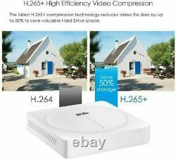 Zosi 5mp Hd Home Caméra De Sécurité Système Cctv Extérieur 2 To Disque Dur 8ch Dvr Kit