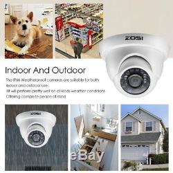 Zosi 720p Hdmi Dvr 8ch 1500tvl Ir Extérieur Sécurité Cctv Dome Système De Caméra 1tb