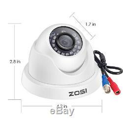 Zosi 8 Canaux H. 265+ 4k 8mp Sécurité Système De Caméra Extérieure 8ch Dvr 4k Hdd 2to