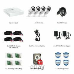 Zosi 8 Channel 4 Camera 5mp Hd Home Security Camera System Avec Disque Dur De 1 To