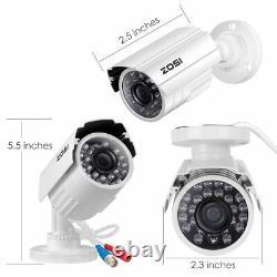 Zosi 8ch 1080p Hdmi Dvr Accueil Extérieur Sécurité Bullet Cctv Système De Caméra Cctv 1 To