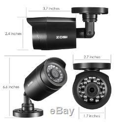 Zosi 8ch 1080p Hdmi Dvr Extérieur Cctv Accueil Sécurité Système De Caméra 1tb Hdd
