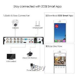 Zosi 8ch 4k H. 265 Maison De Sécurité Système De Caméra Avec 2 To Hdd 8 Canaux Dvr 8mp Kit