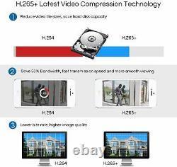 Zosi 8ch 5mp Lite Dvr 1080p Extérieur Cctv Security Camera System Kit Night Vision
